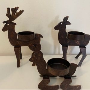 PARTYLITE Reindeer Tea Light Holders